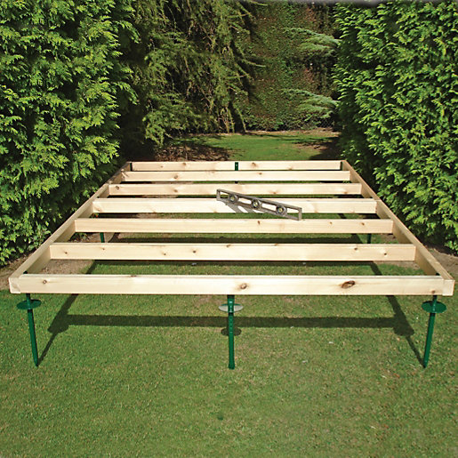 Shire Adjustable Base for Summerhouses & Sheds - 8 x 6 ft ...