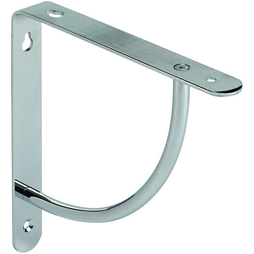 Wickes Decorative Bracket Chrome Finish 180x180mm Wickes