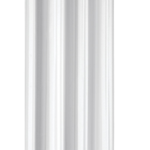 Croydex Stripe Hook N Hang Shower Curtain White | Wickes.co.uk