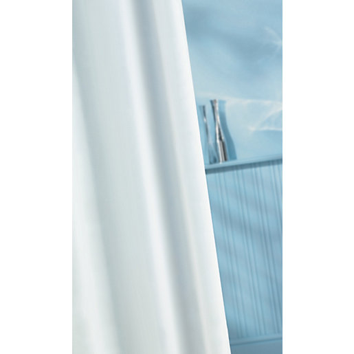 wickes shower curtain pvc white