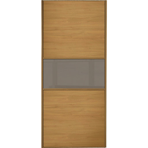 Wickes Sliding Wardrobe Door Fineline Oak Panel