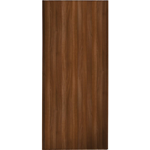 Wickes sliding wardrobe door walnut frame panel 2220 x for Door viewer wickes