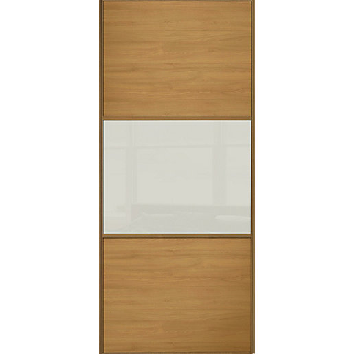 Wickes Sliding Wardrobe Door Wideline Oak Panel Amp Soft