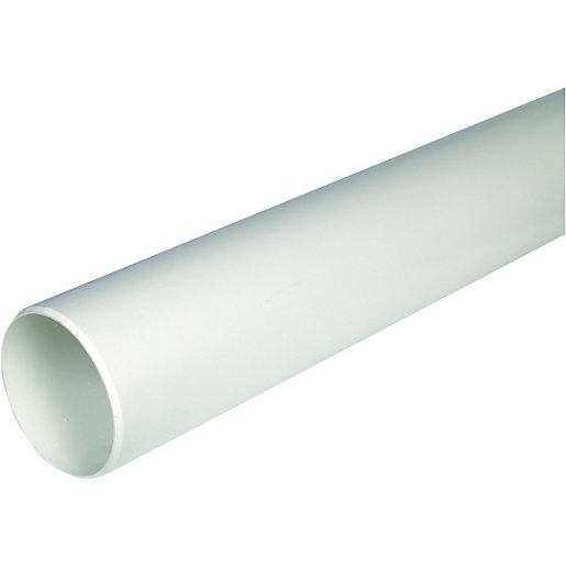 Wickes 110mm white wc soil pipe for 80mm soil vent pipe