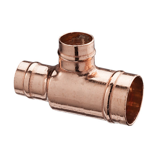 Plumbers Pipe Cladding : Wickes solder ring reduced tee  mm