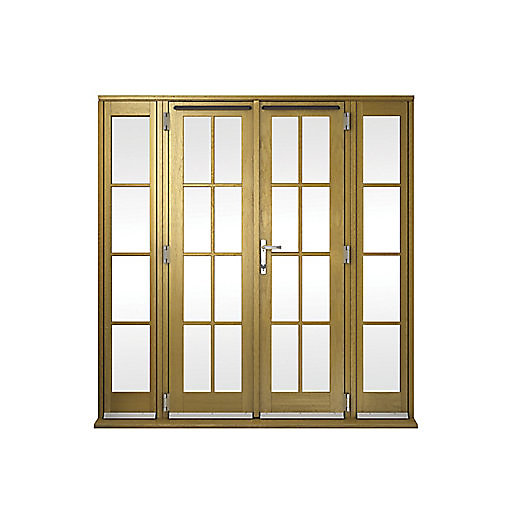 Wickes albery georgian bar solid oak laminate french doors for 8ft french doors exterior