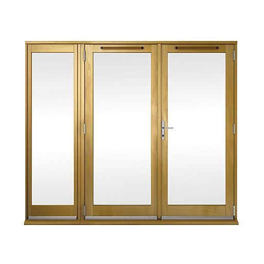 Wickes Albery Pattern 10 Solid Oak Laminate French Doors 6ft With 1 Side Lite 600mm