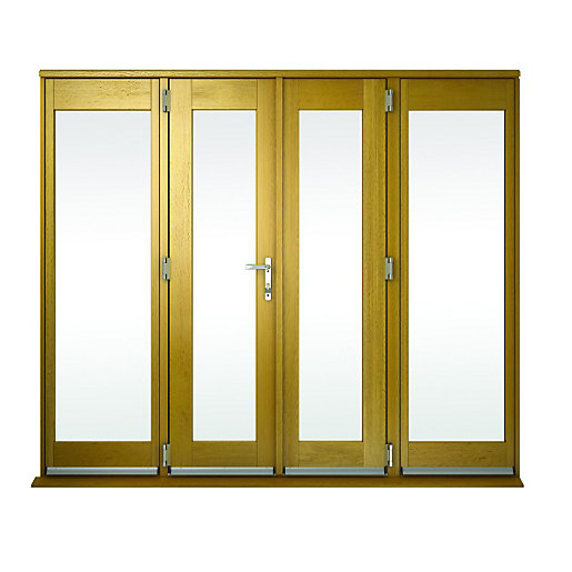 Wickes albery pattern 10 solid oak laminate french doors for 8 foot exterior french doors