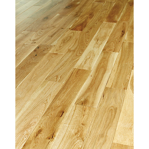 Wickes medina oak solid wood flooring for Real oak hardwood flooring