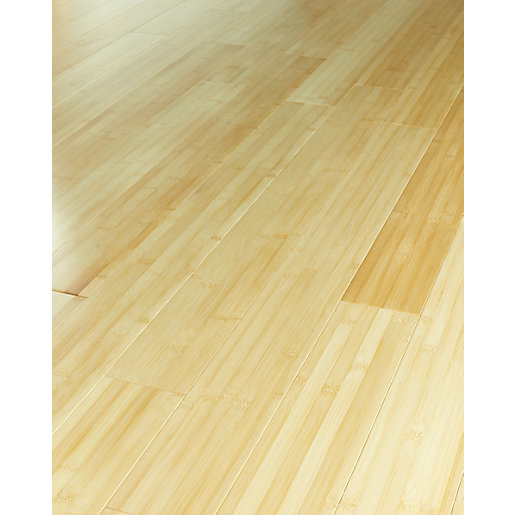 Wickes natural bamboo solid wood flooring for Wood flooring natural