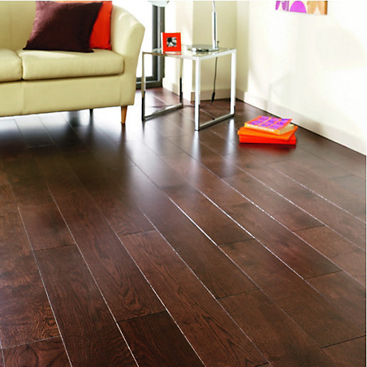 ... Solid Wood Flooring. Mouse over image for a closer look. - Wickes Wenge Oak Solid Wood Flooring Wickes.co.uk