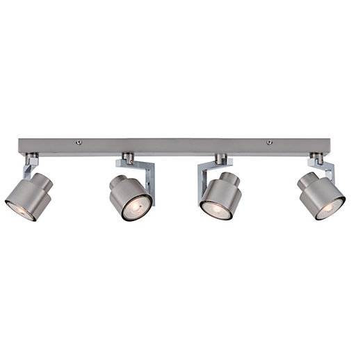 Wickes Boulevard Led Brushed Chrome 4 Bar Spotlight X 5 3w