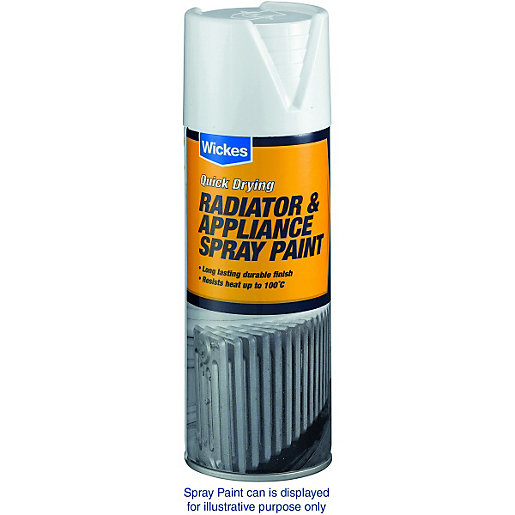 Wickes Radiator Appliance Spray Paint Satin Silver 400ml