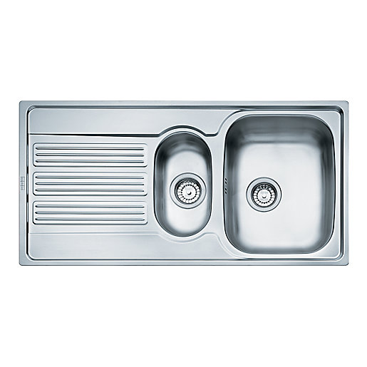 stainless steel sinks kitchen sinks unit kitchens wickes - Kitchen Sink Uk