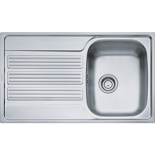 ... Single Bowl Kitchen Stainless Steel Sink U0026 Drainer. Mouse Over Image  For A Closer Look.