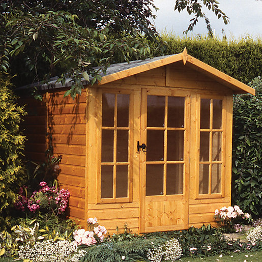 Relaxed Garden Summer House: Shire Chatsworth Apex Dip Treated Summer House