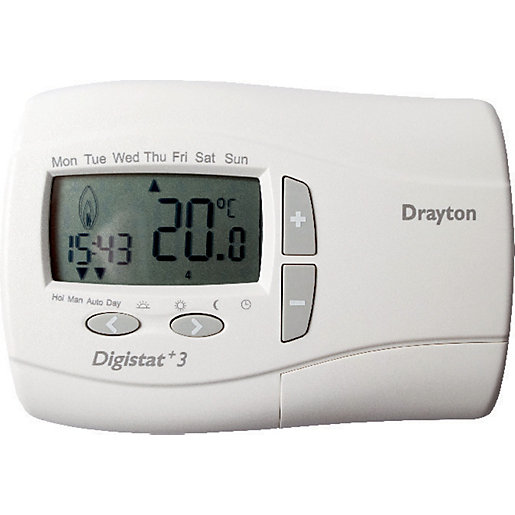 drayton digistat 3 7 day wired programmable thermostat. Black Bedroom Furniture Sets. Home Design Ideas