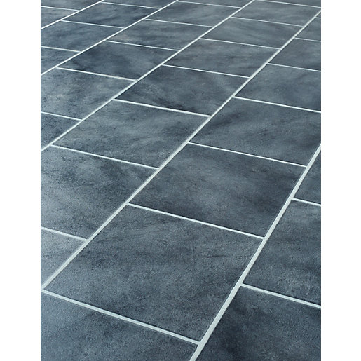 Wickes anthracite tile effect laminate flooring for Laminate tile squares