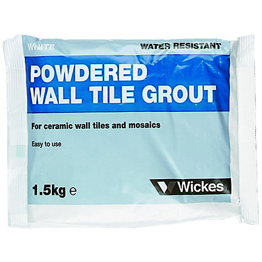 Wickes Powdered Wall Tile Grout White 15kg Wickescouk