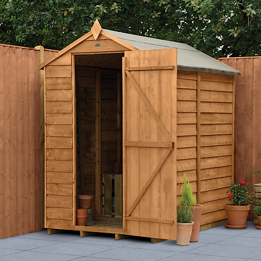 Wickes Apex Overlap Dip Treated Windowless Shed X Ft Wickes