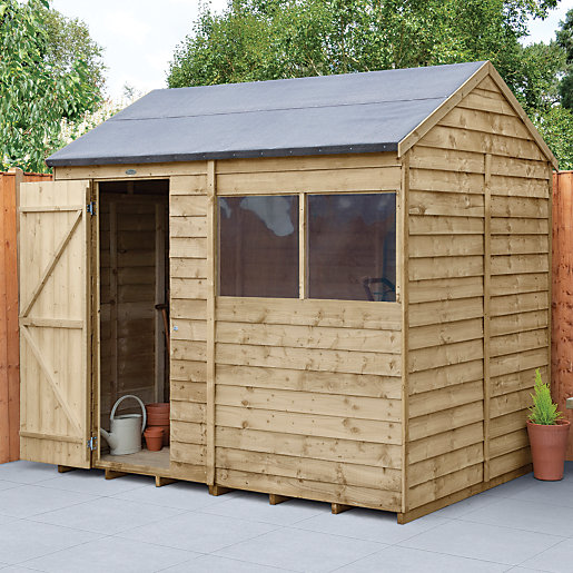 wickes reverse apex overlap pressure treated shed 8 x 6 ft - Garden Sheds Huddersfield