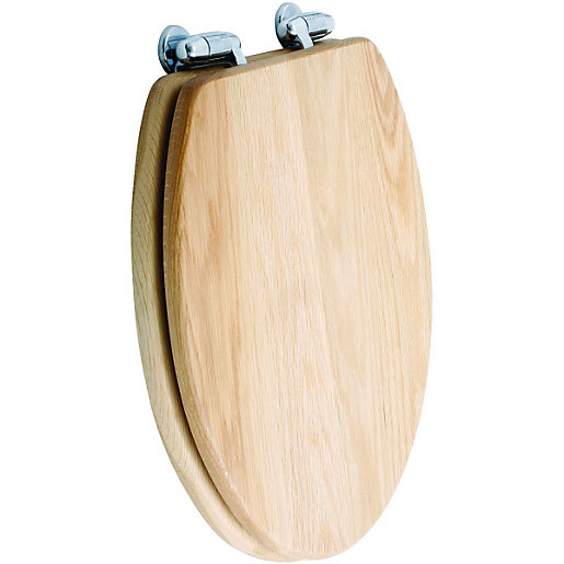 Wickes Oak Wood Effect Toilet Seat Wickescouk