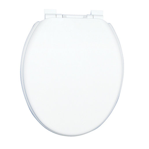 Wickes White Thermoplastic Soft Close Toilet Seat | Wickes.co.uk