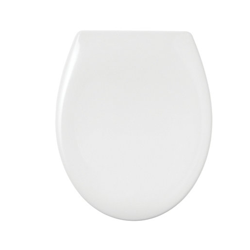 Wickes White Thermoset Soft Close Toilet Seat Wickescouk - Blue soft close toilet seat