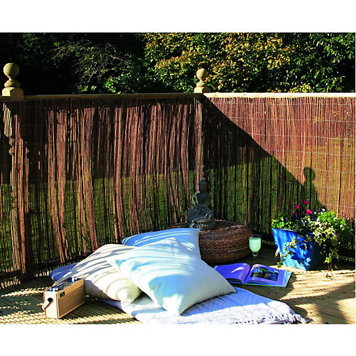 wickes willow garden screening 2 x 4m. Black Bedroom Furniture Sets. Home Design Ideas
