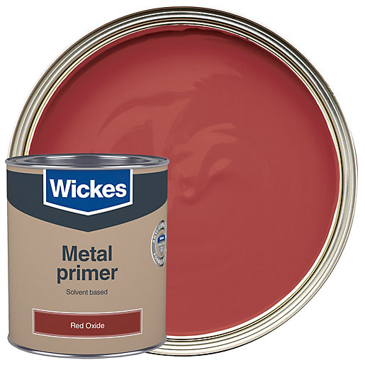 Wickes Metal Primer Red Oxide Paint 750ml