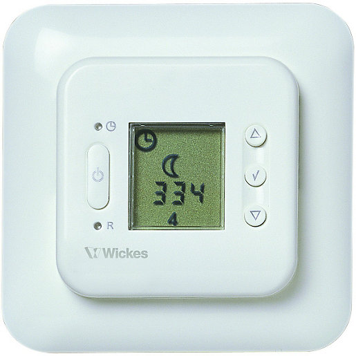 underfloor heating thermostat wiring diagram underfloor heating thermostats underfloor heating wickes co uk wickes digital programmable floorprobe thermostat