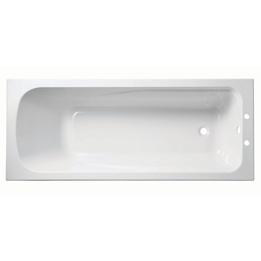 Wickes standard acrylic bath 1700 x 700mm for How big is a standard bathtub