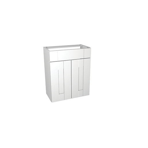 Vanity Units For Bathroom Wickes wickes vermont semi-recessed basin unit 600mm | wickes.co.uk
