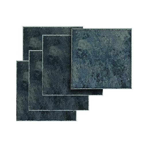 Mouse over image for a closer look. Wickes Vinyl Tiles Black Slate 305 x 305mm 11 Pack   Wickes co uk