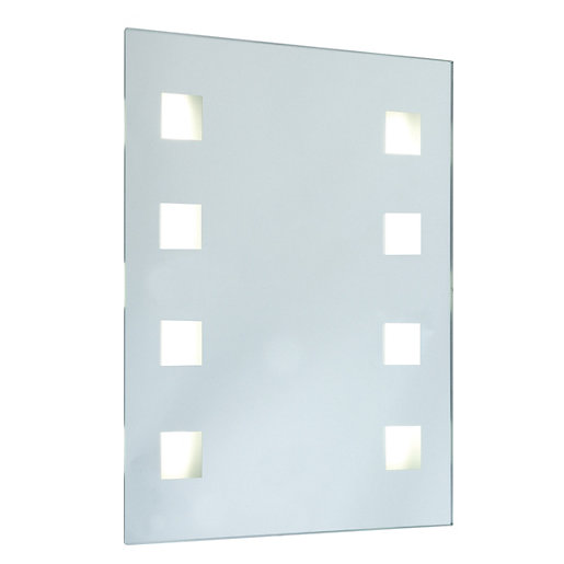 mirror with integrated lighting. wickes sienna rectangular mirror with integrated halogen lights 10w lighting t