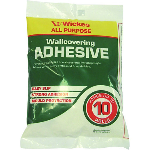Wickes powdered wallpaper adhesive 10 roll for Wickes bathroom wallpaper