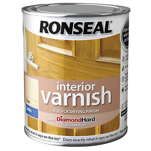 Ronseal interior varnish satin clear 750ml Oil based exterior paint brands
