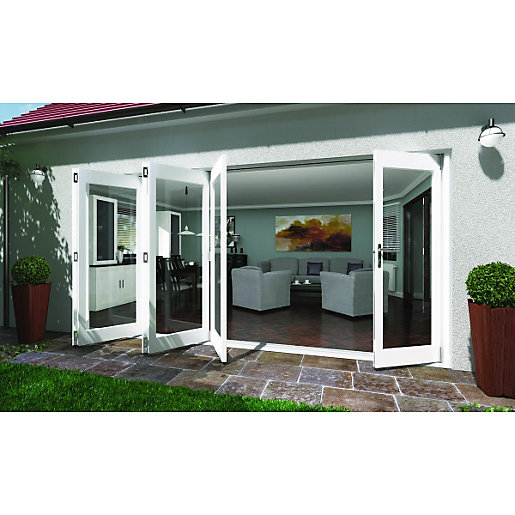 ... Folding Patio Door White 14ft Wide. Mouse Over Image For A Closer Look.
