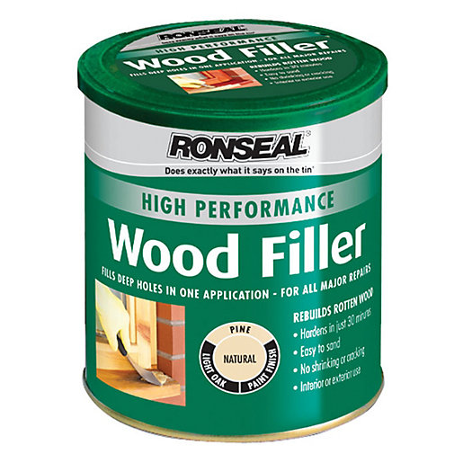 Ronseal high performance wood filler natural 1kg for Wood floor crack filler