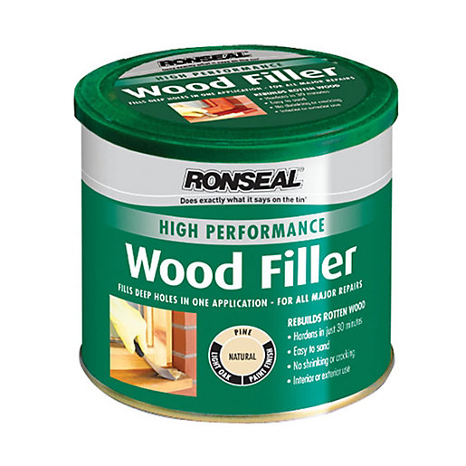Ronseal high performance wood filler natural 275g for Exterior wood filler paintable