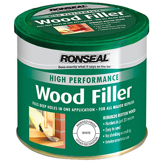 Ronseal High Performance Wood Filler White 275g Wickes
