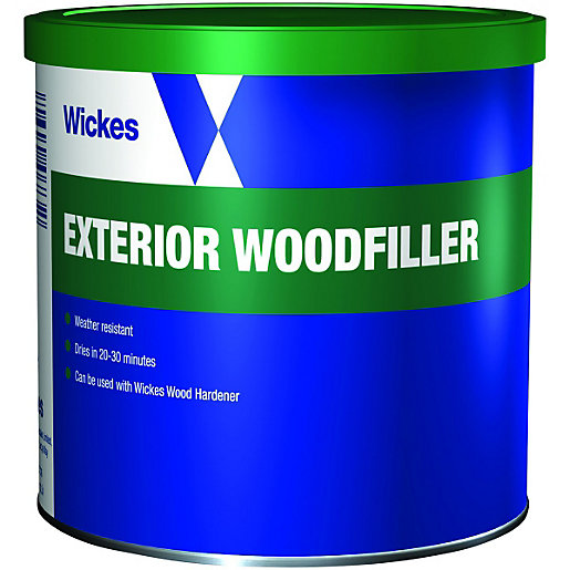 Exterior Wood Filler Wickes Super Tough Wood Filler 550G  Wickes.co.uk