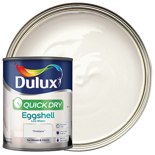 Dulux Quick Dry Eggshell Paint Timeless 750ml Wickescouk