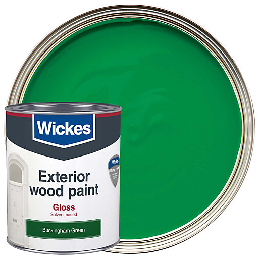Wickes exterior gloss paint buckingham green 750ml - Wickes exterior gloss paint set ...