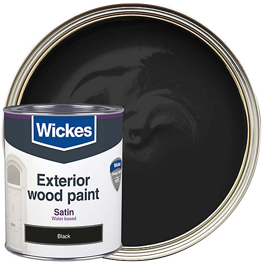 Wickes Exterior Satin Paint   Black 750ml | Wickes.co.uk Part 38