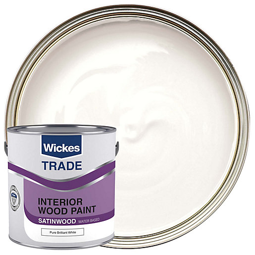 Wickes Truewhite Satin Paint Pure Brilliant White 2 5l