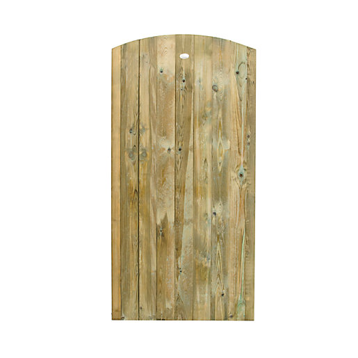 Forest Garden Pressure Treated Curved Top Timber Gate
