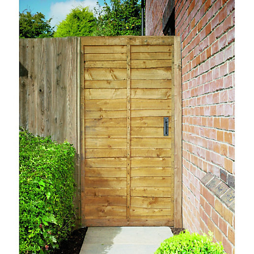 Wickes Wayney Framed Overlap Timber Gate   910 X 1800 Mm