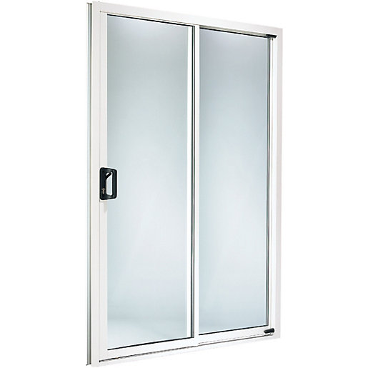Wickes washington upvc sliding patio door set white 6ft for 6ft sliding patio doors