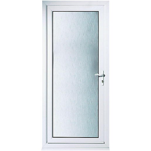 Wickes humber pre hung upvc door 2085 x 840mm left hand for Plastic french doors